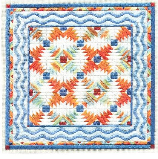 click here to view larger image of Tropical Pineapple Quilt (counted canvas chart)