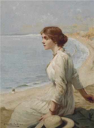 click here to view larger image of Girl Looking Out To Sea (chart)