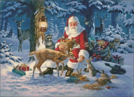 click here to view larger image of Santa In Forest (chart)