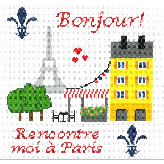 click here to view larger image of Meet Me In Paris (Kit) (counted cross stitch kit)