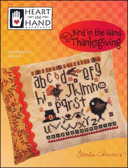 click here to view larger image of Bird In The Hand - Thanksgiving (chart with charms/buttons)