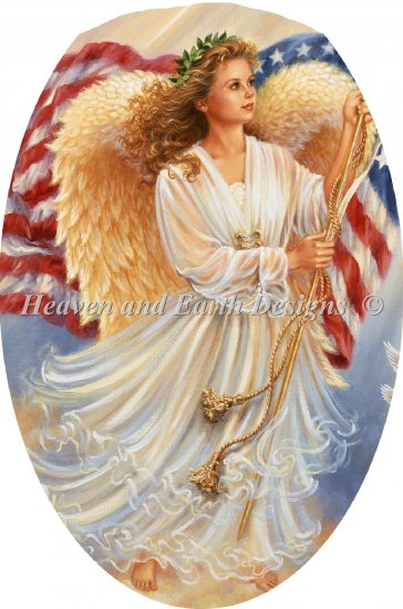 click here to view larger image of Ornament American Angel (chart)