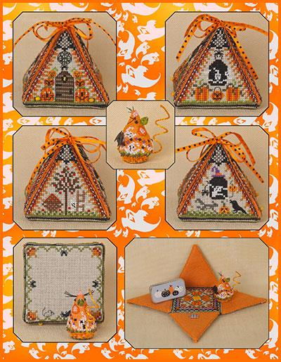 click here to view larger image of Haunted Autumn Mouse In A House - Limited Edition Kit (counted cross stitch kit)