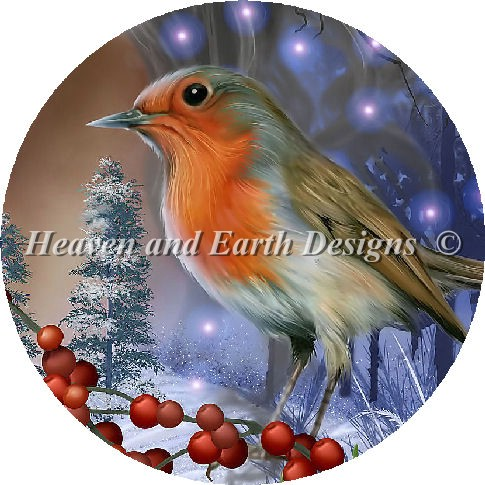 click here to view larger image of Spirit of Winter Robin - Quick Stitch (chart)