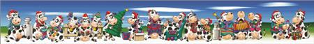 click here to view larger image of Christmas Cows (chart)