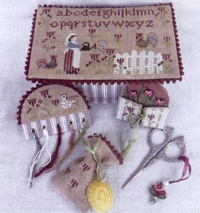 click here to view larger image of Working In The Garden Sewing Box (chart)