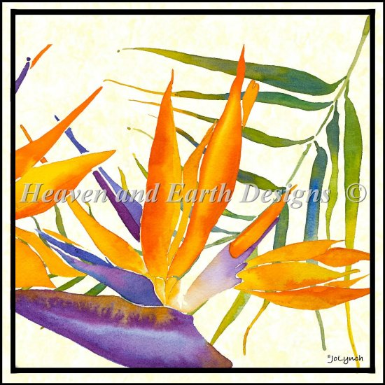 click here to view larger image of Floral  Bird Of Paradise (chart)