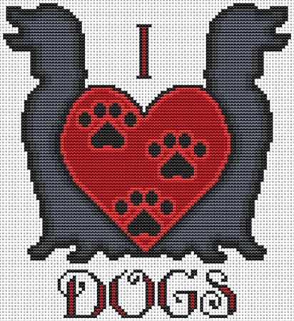 click here to view larger image of I Heart Dogs (chart)