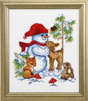 click here to view larger image of Snowman (counted cross stitch kit)