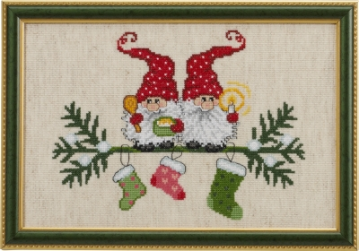 click here to view larger image of Elfs and Socks (counted cross stitch kit)