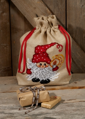 click here to view larger image of Elf With Light Bag (counted cross stitch kit)