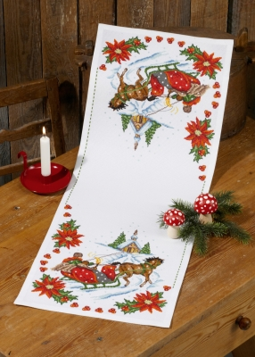 click here to view larger image of Church Table Runner (counted cross stitch kit)