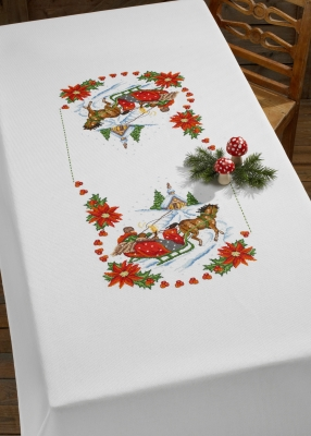 click here to view larger image of Church Table Cloth (counted cross stitch kit)