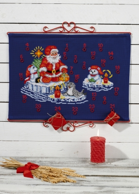 click here to view larger image of Santa Claus Advent Calendar (counted cross stitch kit)
