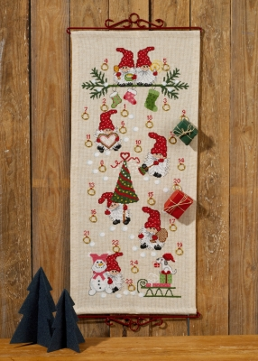 click here to view larger image of Christmas Fun Advent Calendar (counted cross stitch kit)