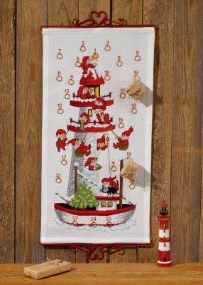 click here to view larger image of Elf Advent Calendar (counted cross stitch kit)