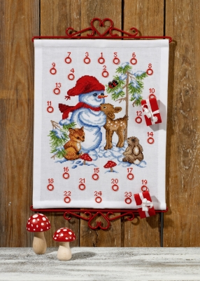 click here to view larger image of Snowman Advent Calendar (counted cross stitch kit)