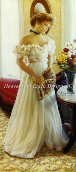 click here to view larger image of Formal Gown With Fan (chart)
