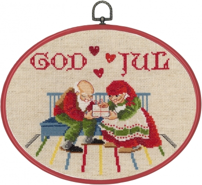 click here to view larger image of Elfs In Kitchen (counted cross stitch kit)