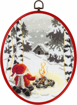 click here to view larger image of Christmas Night (counted cross stitch kit)