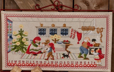 click here to view larger image of Elf Kitchen (counted cross stitch kit)