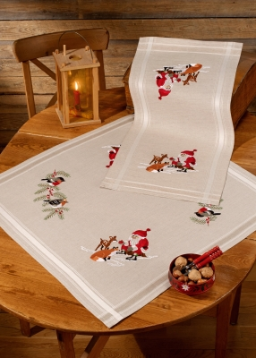 click here to view larger image of Santa Claus Table Topper (bottom) (stamped cross stitch kit)