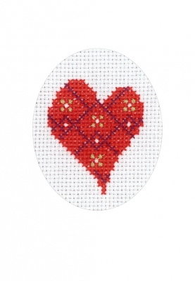 click here to view larger image of Heart Card (counted cross stitch kit)