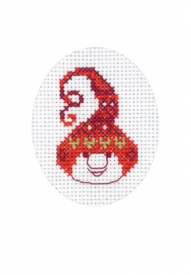 click here to view larger image of Elf Card (counted cross stitch kit)