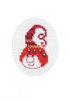 click here to view larger image of Christmas Elf Card (counted cross stitch kit)