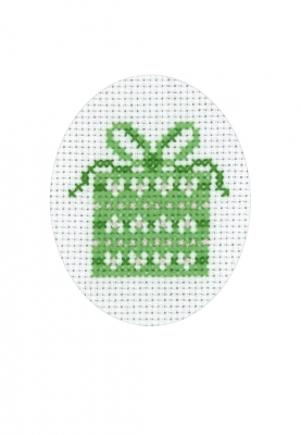 click here to view larger image of Christmas Gift Card (counted cross stitch kit)