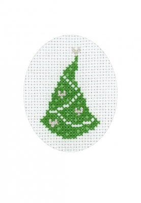 click here to view larger image of Pine Tree Card (counted cross stitch kit)