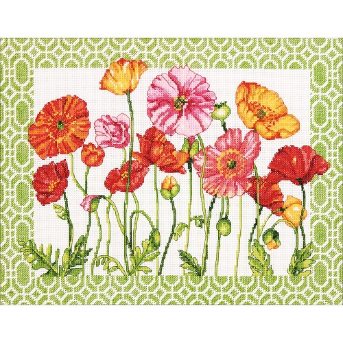 click here to view larger image of Poppy Pattern (counted cross stitch kit)