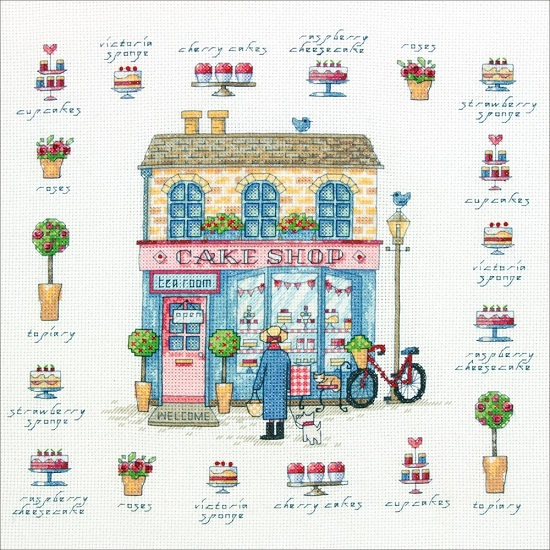 click here to view larger image of Cake Shop (counted cross stitch kit)