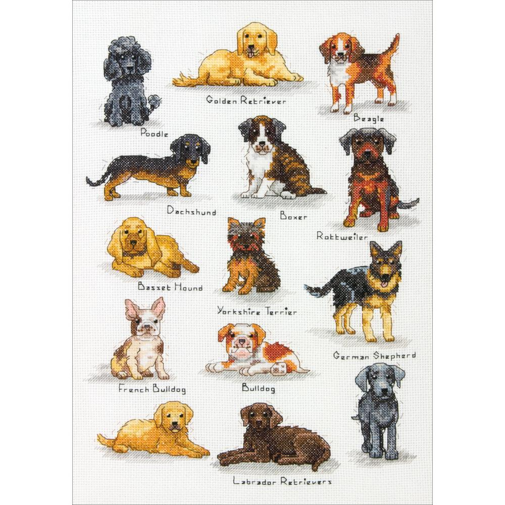 click here to view larger image of Dog Sampler (counted cross stitch kit)