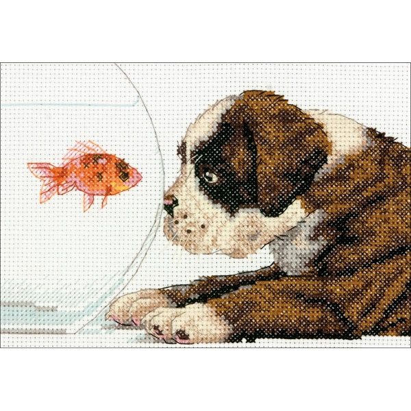 click here to view larger image of Dog Bowl (counted cross stitch kit)