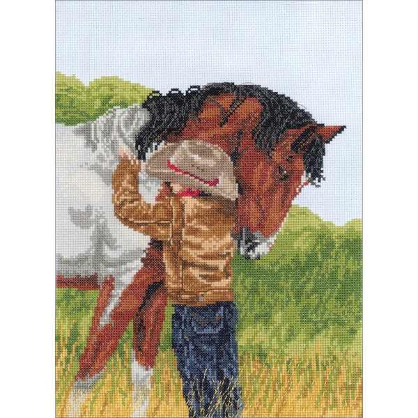 click here to view larger image of Horse Crazy (counted cross stitch kit)