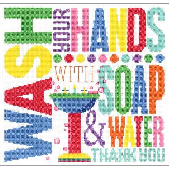 click here to view larger image of Wash Your Hands (counted cross stitch kit)