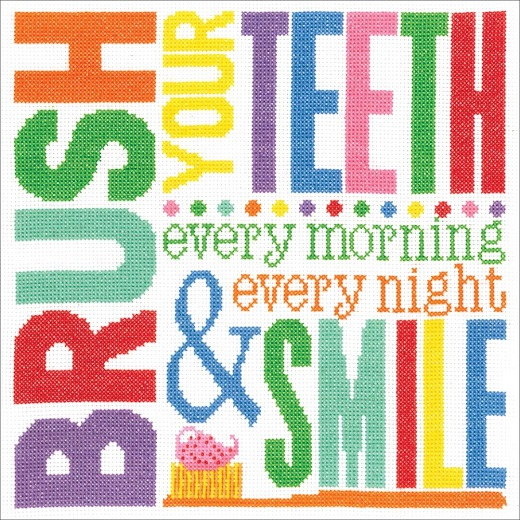 click here to view larger image of Brush Your Teeth (counted cross stitch kit)