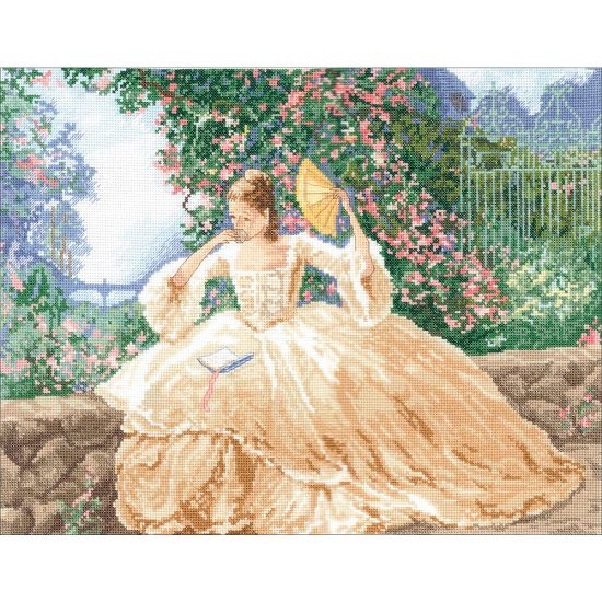 click here to view larger image of Ringlets and Roses (counted cross stitch kit)