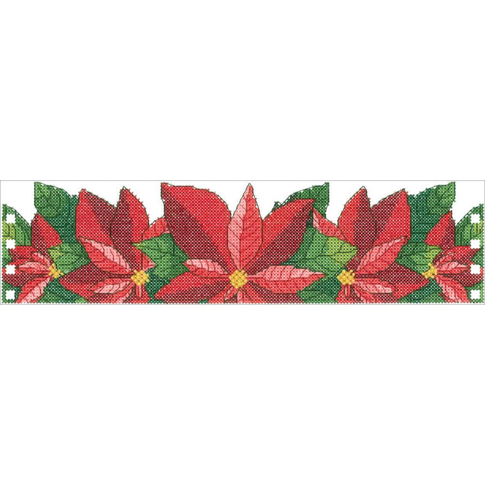 click here to view larger image of Poinsettia Candle Corset (counted cross stitch kit)