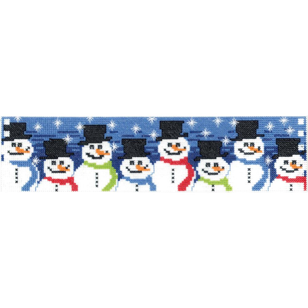 click here to view larger image of Snowman Candle Corset (counted cross stitch kit)