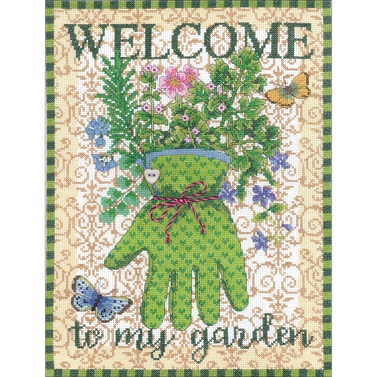 click here to view larger image of Gardeners Glove (counted cross stitch kit)
