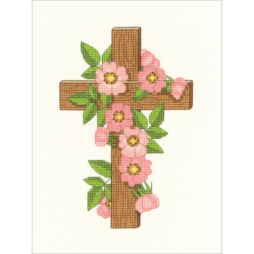 click here to view larger image of Floral Cross (counted cross stitch kit)