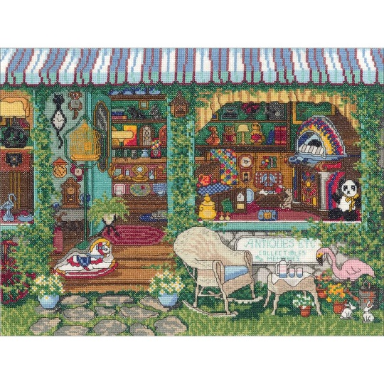 click here to view larger image of Antiques (counted cross stitch kit)
