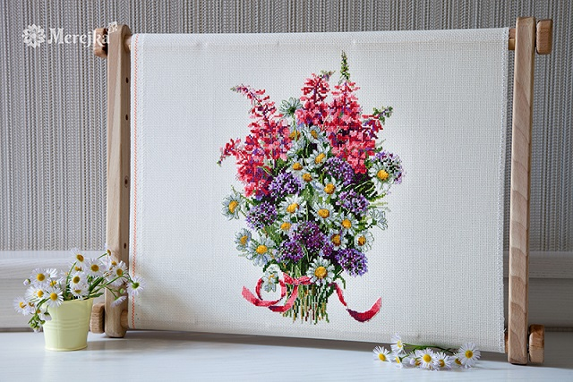 click here to view larger image of Field Bouquet, The (counted cross stitch kit)