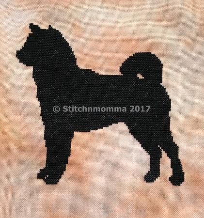 click here to view larger image of Dog Silhouette - Shiba Inu (chart)