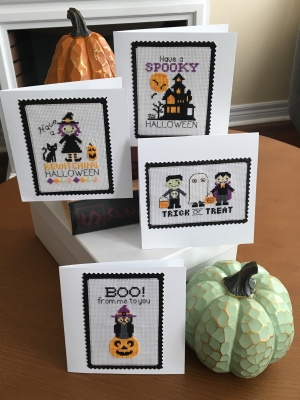click here to view larger image of Halloween Greetings (4 Designs) (chart)