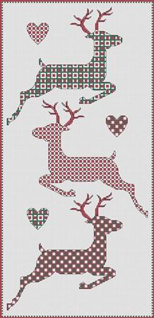 click here to view larger image of Christmas - Reindeer Trio (chart)