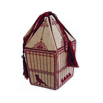 click here to view larger image of French Birdcage Workbox and Accessories in Cross Stitch (chart)