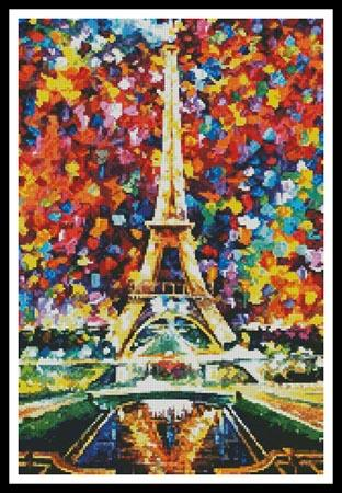 click here to view larger image of Paris Of My Dreams (Cropped)  (Leonid Afremov) (chart)